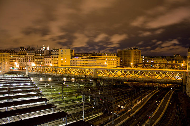Vue du sacré coeur / Paris Gare de l'Est